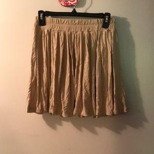 Dresses & Skirts - Tan Skater Skirt